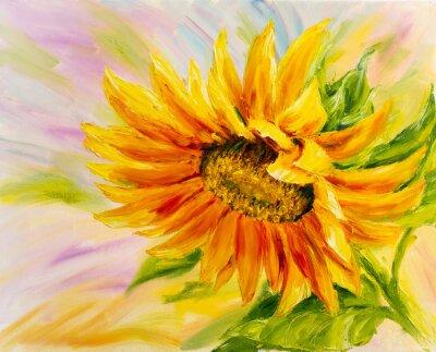 Картина Подсолнечник, живопись маслом на холсте