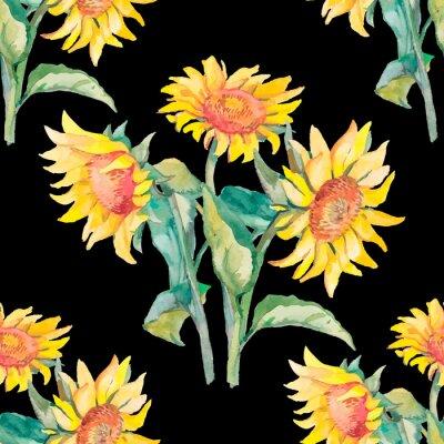 Картина Подсолнухи картины акварелью.