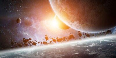 Картина Восход солнца над планетой Земля в космосе