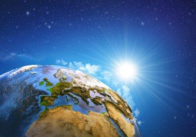 Картина Восход солнца над Землей