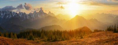 Картина Заход горы