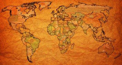 Картина Суринамский территория на карте мира