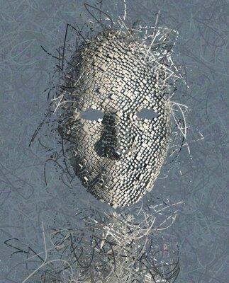 Картина Сюрреалистический маска абстрактные с многих Провода