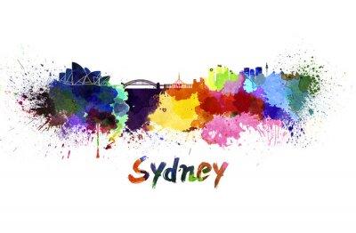 Картина Сидней горизонт акварелью