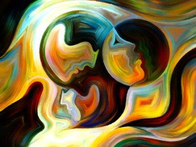 Картина Взаимодействие Внутренней Paint