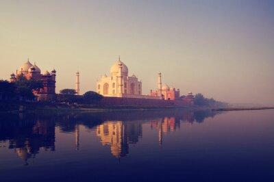 Картина Тадж-Махал в Индии семь чудес понятия