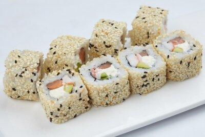 Картина вкусные суши