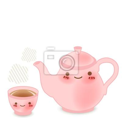 Чайник набор: векторный файл EPS10