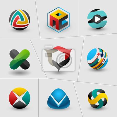 Технология и энергетические веб-иконы установить и векторные логотипы