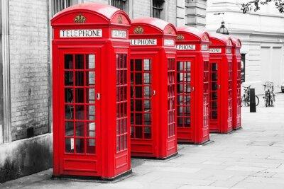 Картина Telefonzellen в Лондоне им Color-Ки-Verfahren