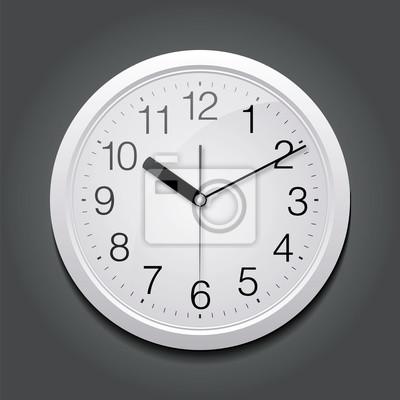 Шаблон для рекламы и фирменного стиля. Классический круглые часы. Пустой макет дизайна. Вектор белый объект