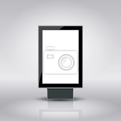 Шаблон для рекламы и фирменного стиля. Вертикальный Citylight. Пустой макет дизайна. Вектор белый объект.