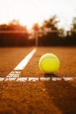 Картина Теннисный мяч в поле обслуживания