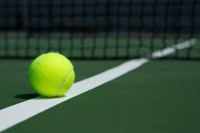 Картина Теннисный мяч с чистой в фоновом режиме