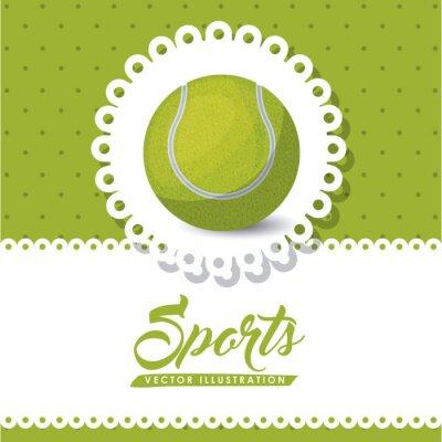 Картина дизайн теннис лига