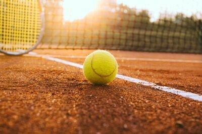 Картина Теннисные ракетки и мяч на глиняном суд