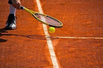 Картина Ландшафт де теннис, Raquette др. Балле Jaune