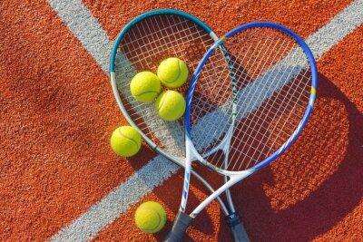 Картина Теннис, теннисный мяч, фон.
