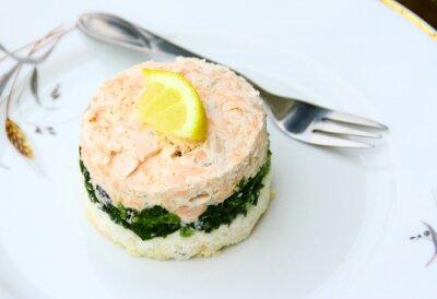 Картина Террин де saumon, épinards
