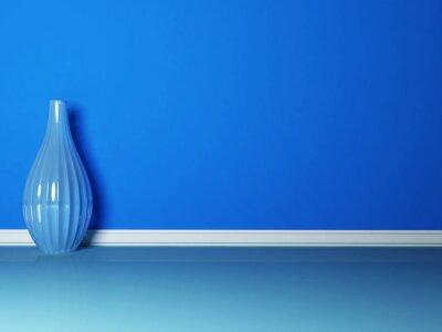 Картина синей вазе в синем номере