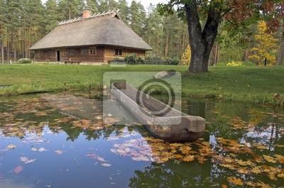 Загородный дом на берегу озера.