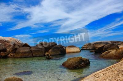 Картина Море красивый beachand чистая вода свежий воздух плавательный холодное море.