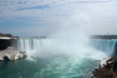 Картина Захватывающий Ниагарского водопада в зимний период.