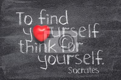 подумай сам Сократ