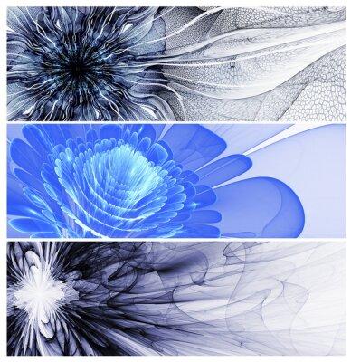 Картина Три абстрактные цветочные Баннеры