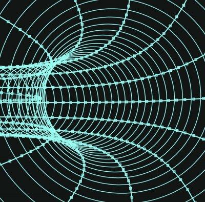 Картина Трехмерная абстрактный туннель или труба