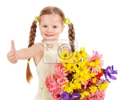 Большой палец вверх счастливый ребенок.