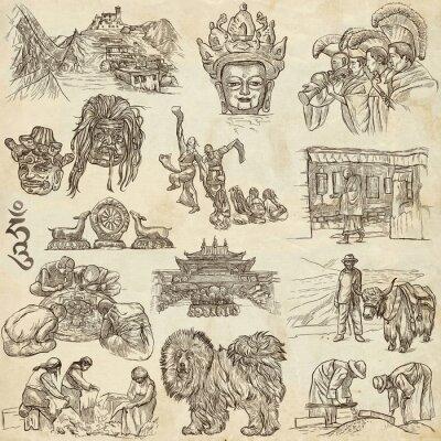 Картина Тибет. Путешествия - Фотографии жизни. Ручные рисунки.