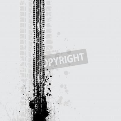 Картина Покрышка трек гранж тень