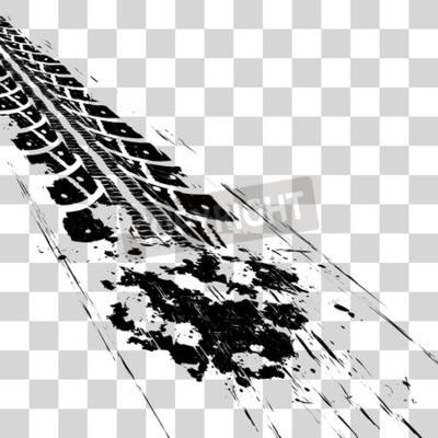 Картина Шины для шин. Векторная иллюстрация onon клетчатый фон