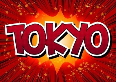 Картина Токио - стиль комиксов слово.
