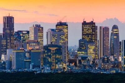 Картина Tokyo Skyline в сумерках