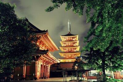 Картина храм Токио