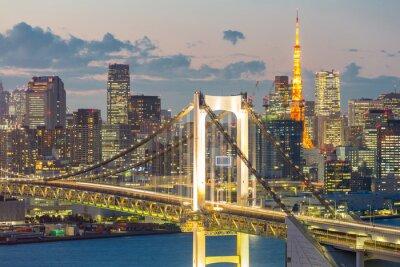 Картина Токийская башня Радужный мост