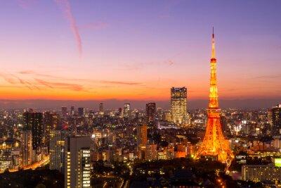 Картина Токийская башня, Токио, Япония