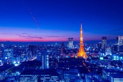Картина Башня Токио, Токио, Япония