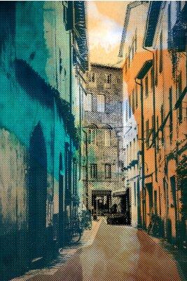 Картина город Лукка, открытка
