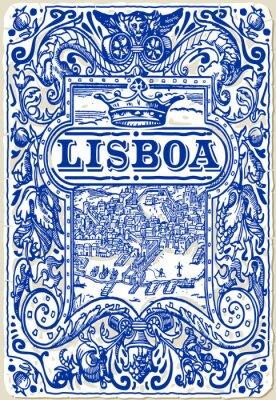 Картина Традиционный плитки плитки Лиссабон, Португалия