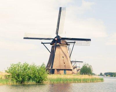 Картина Традиционный мельница в Нидерландах