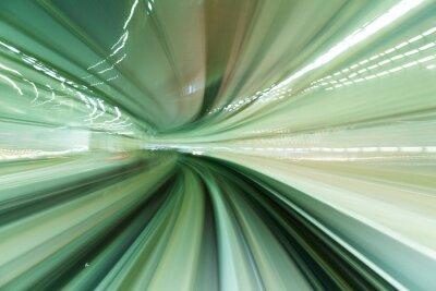 Картина Поезд движется в туннеле