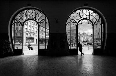 Картина Железнодорожный вокзал Россио. Старый город Лиссабона. Португалия.