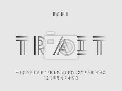 Trait font. Vector alphabet