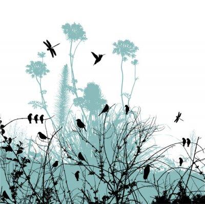 дерево и птица