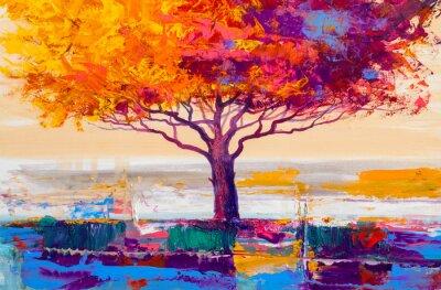 Картина Дерево масляной живописи, художественный фон