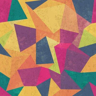 Картина Треугольник шаблон. Красочный, гранж и бесшовные. Гранж эффекты