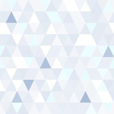 Картина Треугольная форма мерцающий синий бесшовные модели. Геометрическая блестящий фон.